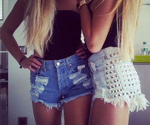 fashion, friends, and shorts image