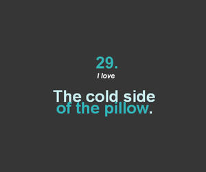 cold, pillow, and side image
