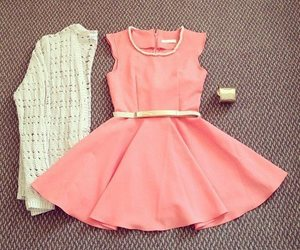 classy, outfit, and pink image