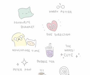 harry potter, adventure time, and one direction image