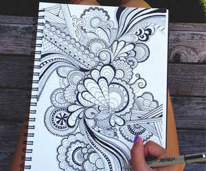 art, pen, and summer image