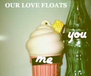 love, float, and ice cream image