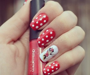 dots, minnie mouse, and red image