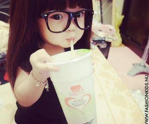 cute, baby, and glasses image