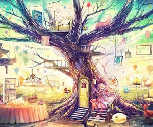 tree, anime, and art image