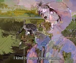 subtitles, alone, and glitch image