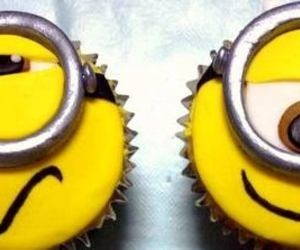 cupcakes, happy, and minions image