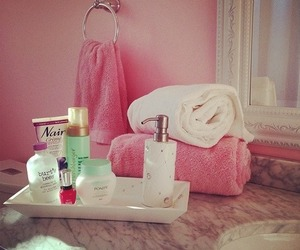 pink and bathroom image