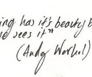quote, text, and andy warhol image