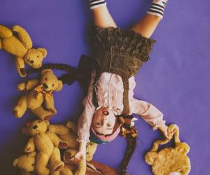 bear, clothes, and girl image