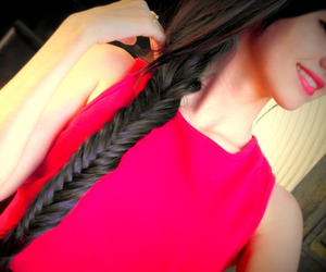 cute, braid, and hair image
