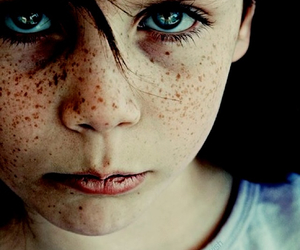 eyes, child, and freckles image