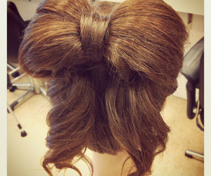 beautiful, bow, and hair image