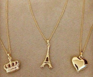 heart, necklace, and paris image