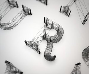 alphabet, typography, and wires image