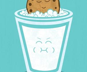 milk, cookie, and Cookies image