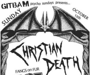80's, christian death, and goth image
