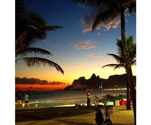beach, praia, and rio image