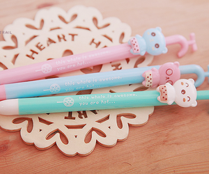 cute, pen, and pink image