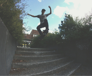 boy, fisheye, and skate image