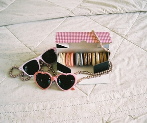 sunglasses, macaroons, and pink image