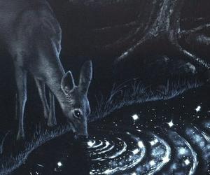illustration, art, and deer image
