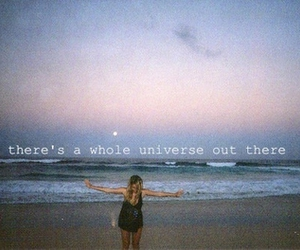 girl, beach, and universe image