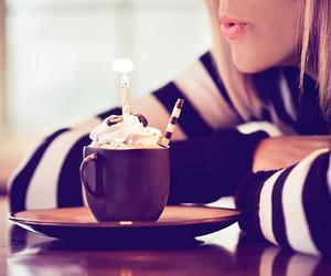 girl, birthday, and coffee image