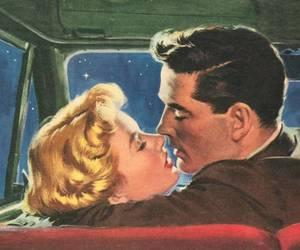 love, kiss, and retro image
