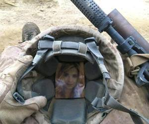 love, soldier, and war image