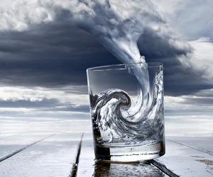 clouds, cool, and glass image