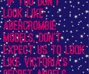 reality, victoria's secret angels, and abercrombie models image