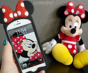 iphone, minnie, and case image