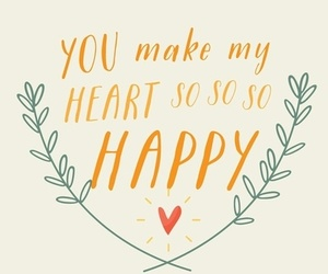 happy, love, and quote image