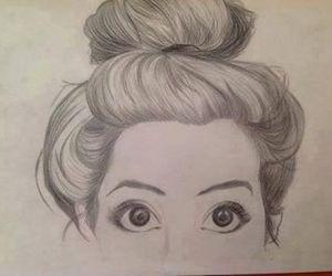 drawing, art, and eyes image