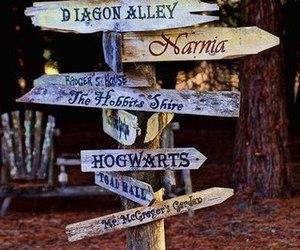 narnia, hogwarts, and book image