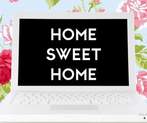 caption, floral, and home image