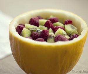 cantaloupe, fruit, and kiwi image