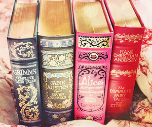 book, alice in wonderland, and jane austen image
