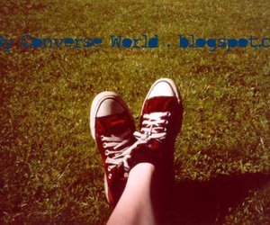 all star, grass, and red image