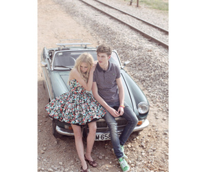 couple, cute, and car image