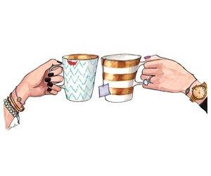 tea, coffee, and friends image
