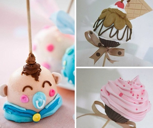 cake pops, cakes, and colorful image