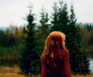 camera, forest, and girl image
