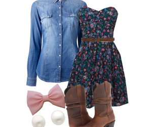 bows, country, and dresses image