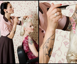 50s, blonde, and Pin Up image