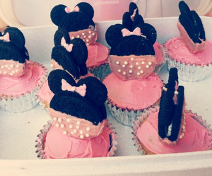 bow, cupcakes, and mickey image