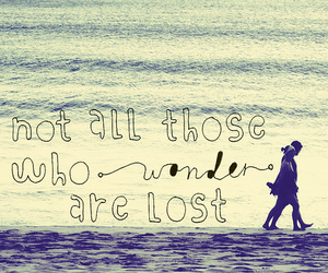 quote, beach, and lost image