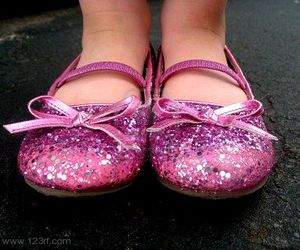 sparkly, pink, and shoes image