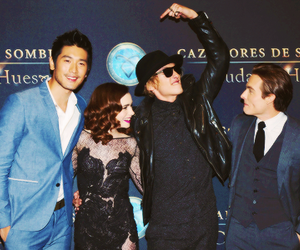 Kevin Zegers, lily collins, and the mortal instruments image